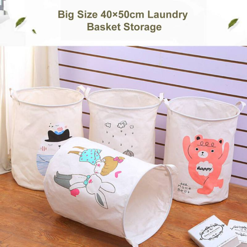 Waterproof Foldable Laundry Hamper Bucket Dirty Clothes Laundry Basket Toy Large Sized Storage Organizer X