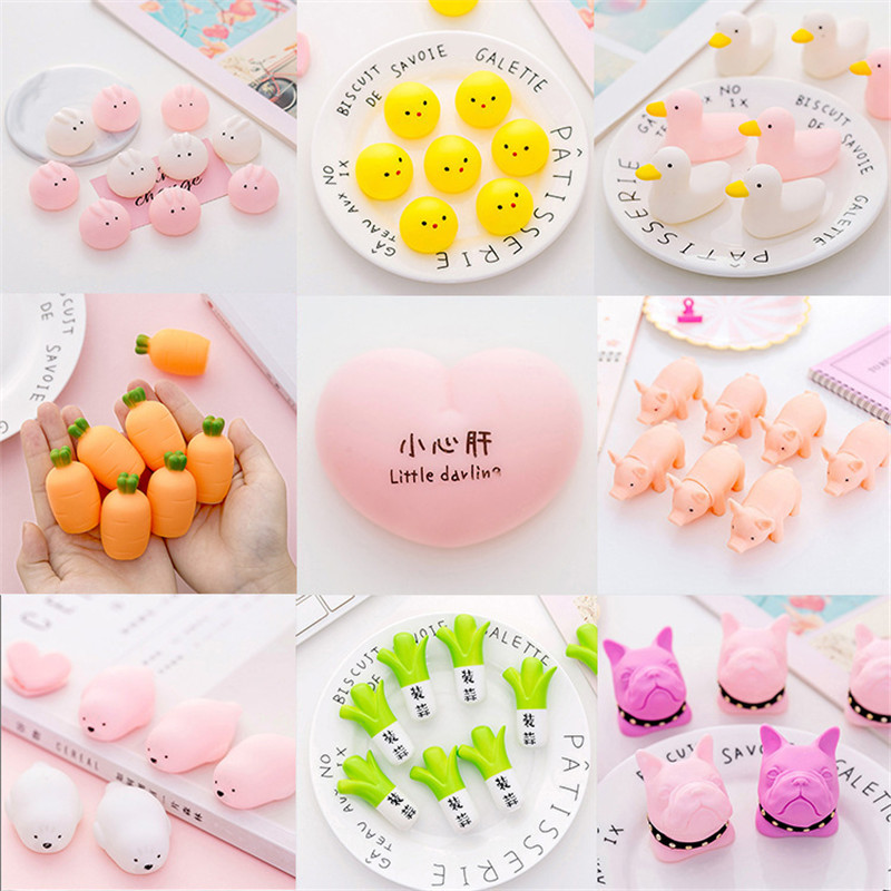 Various Available Cartoon Cute Animal Squishy Squishes Slow Rising Soft Sticky Creative Stress Relief Funny Spoof Squeeze Toys