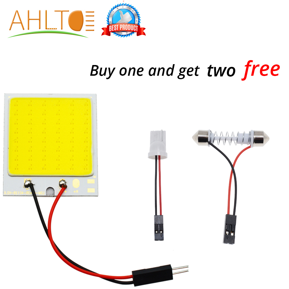 White <font><b>Blue</b></font> Red <font><b>T10</b></font> C5W Cob 48SMD chip Reading Lamp Car <font><b>Led</b></font> Parking Bulb Auto Interior Panel Light Festoon License Plate Lights image