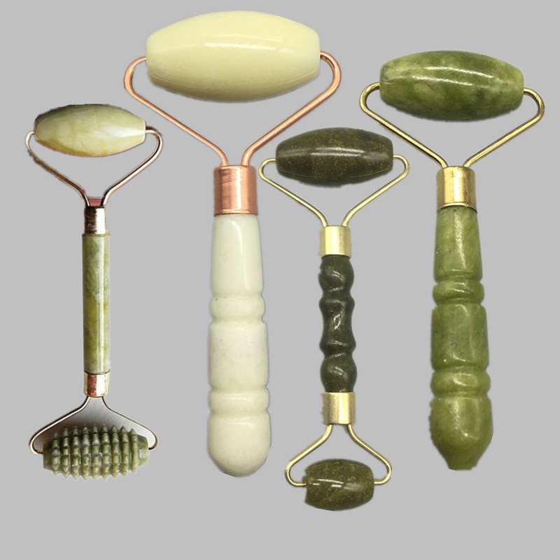 Roller Face Thin Beauty Massage Facial Lift Tools Natural Stone Artificial Jade Roller Slim Relaxation Neck Skin Care Tools
