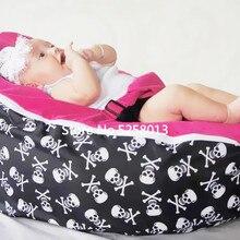 Пиратская основа в виде черепа с розовыми, черными, синими, серыми топами, детский диван-стул, спальный мешок для младенцев