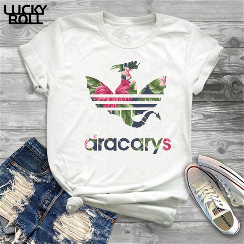 Game Of Thrones Dracarys Tshirt <font><b>t</b></font> <font><b>shirt</b></font> Women Mother Of Dragons <font><b>Shirt</b></font> Womens <font><b>T</b></font>-<font><b>Shirts</b></font> <font><b>King</b></font> <font><b>Queen</b></font> Girls Friends Mon Gift Tee image