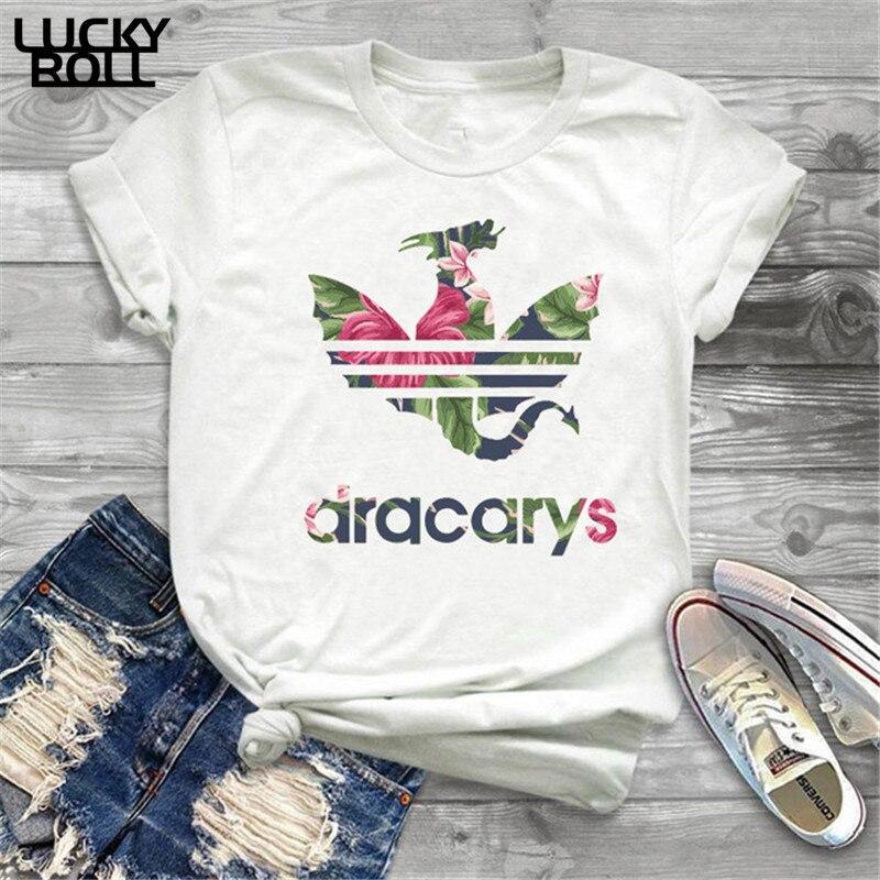 Game Of Thrones Dracarys Tshirt T Shirt Women Mother Of Dragons Shirt  Womens T-Shirts King Queen Girls Friends Mon Gift Tee