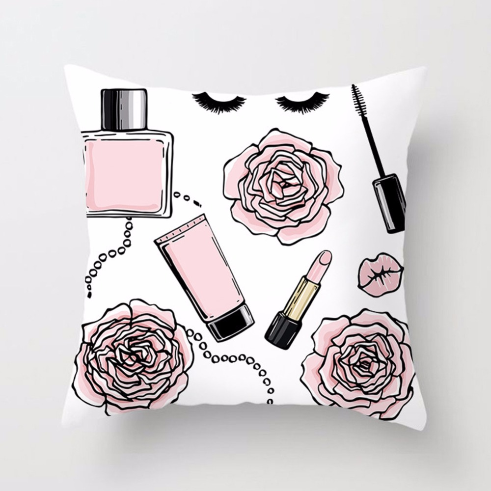 New-Printed-Flower-Pillow-Case-Cover-Square-45cm-45cm-Polyester-Pillowcase-Seat-Cushion-Case-Cover-Home(5)