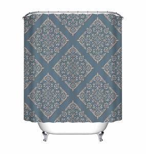 Image 3 - LB Black Damask Baroque Shower Curtain Bathroom Luxury Vintage Art Abstract Flower Waterproof Polyester Fabric For Bathtub Decor