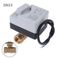 AC 220V 3 way Electric Motorized Ball Valve Three wire Two Control For Air Conditioning
