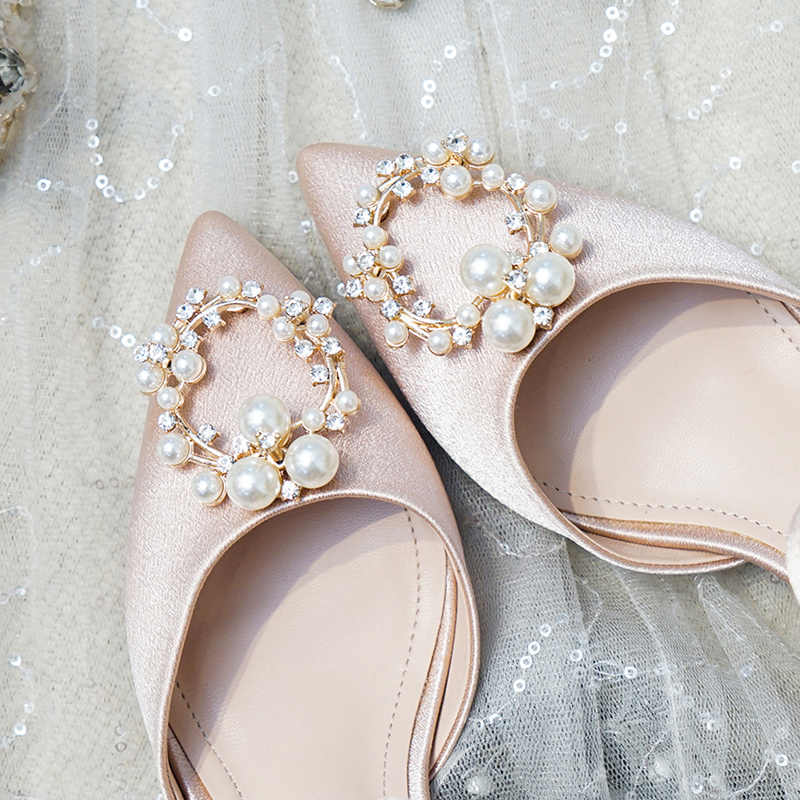 Wedding Shoes Female Crystal 2019 New Strap On Bride Shoes