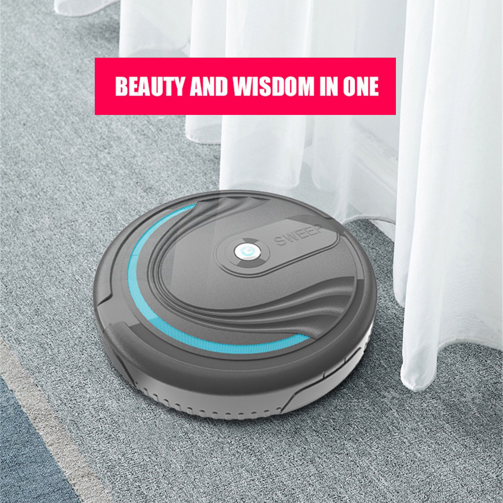 Robotic Vacuum Cleaner for home Full Automatic Mini Vacuuming Robot Household Appliances Charging Sweeper USB Charging cable^35