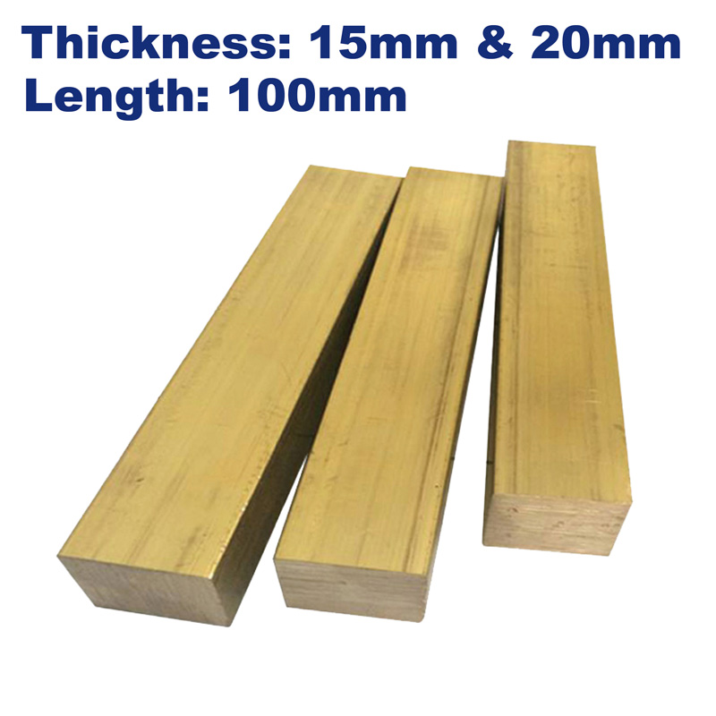 Brass Bars Thickness 15mm/20mm,length 100mm