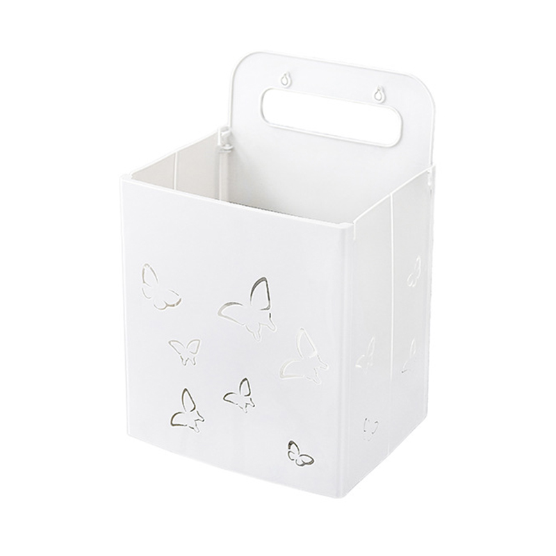 Dobrável cesta de lavanderia de plástico montado na parede roupas sujas cesta de armazenamento organizador para lavanderia lavanderia cesto|Cestos de lavanderia| |  - title=