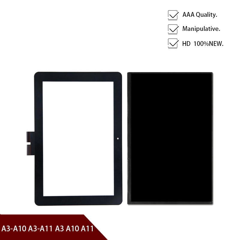 "High Quality LCD DIsplay 10.1""inch Screen For Acer Iconia Tab A3-A10 A3-A11 A3 A10 A11 Touch Panel Digitizer Glass Lens Sensor"