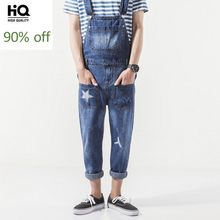 Overalls Heren 2020 Hot Fashion Menswear Streetwear Casual Full Length Denim Rompertjes Pocket Mid Taille Reguliere Jeans Jarretel Man(China)