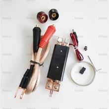 DIY ספוט ריתוך מכונת ריתוך 18650 סוללה כף יד ספוט ריתוך עט 25 כיכר ריתוך עט עם פונקציה של ויסות