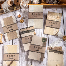 30 pçs/lote almofadas de memorando notas pegajosas papel de renda lixo jornal scrapbooking adesivos escritório escola papelaria