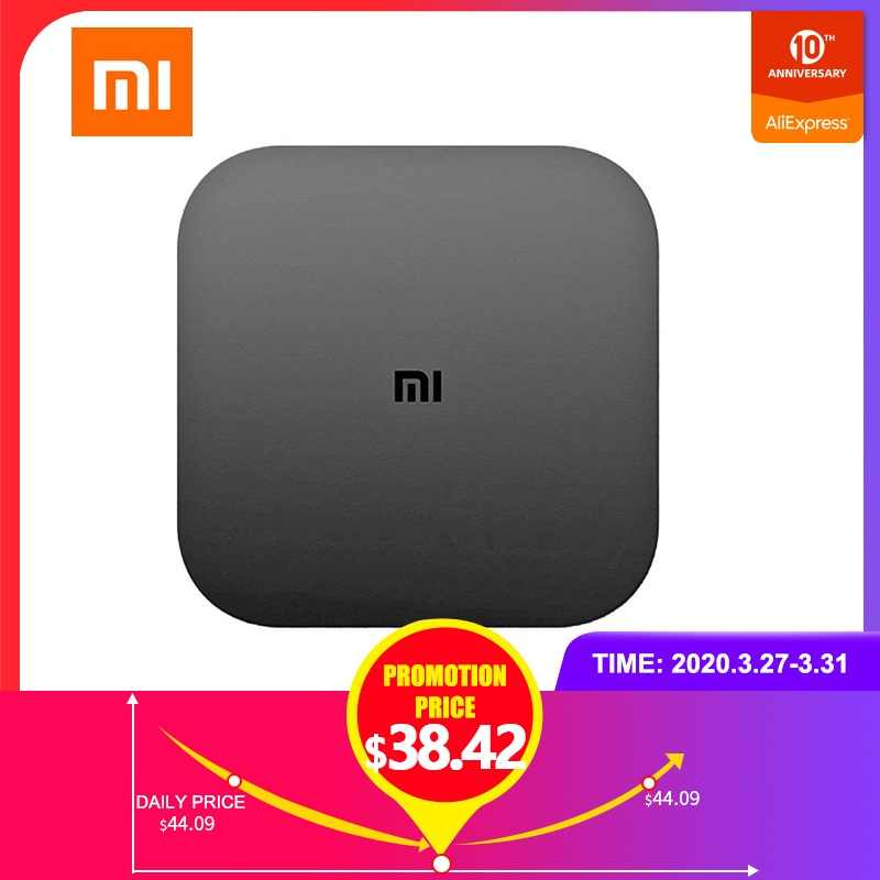Xiaomi Kotak TV Versi Cina Putih 4 Hitam 4C 4K TV Caja Amlogic Cortex-A53 Quad Core 64bit DTS-HD 2,4 GHz WiFi USB 2,0 Set-Top