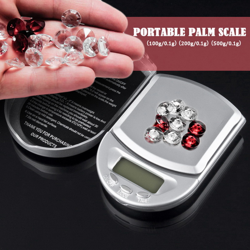Pocket Scale High Accuracy Jewelry Scale Portable Digital Scale Mini With Backlight Gram Weighing Balance Mini Electronic Scale