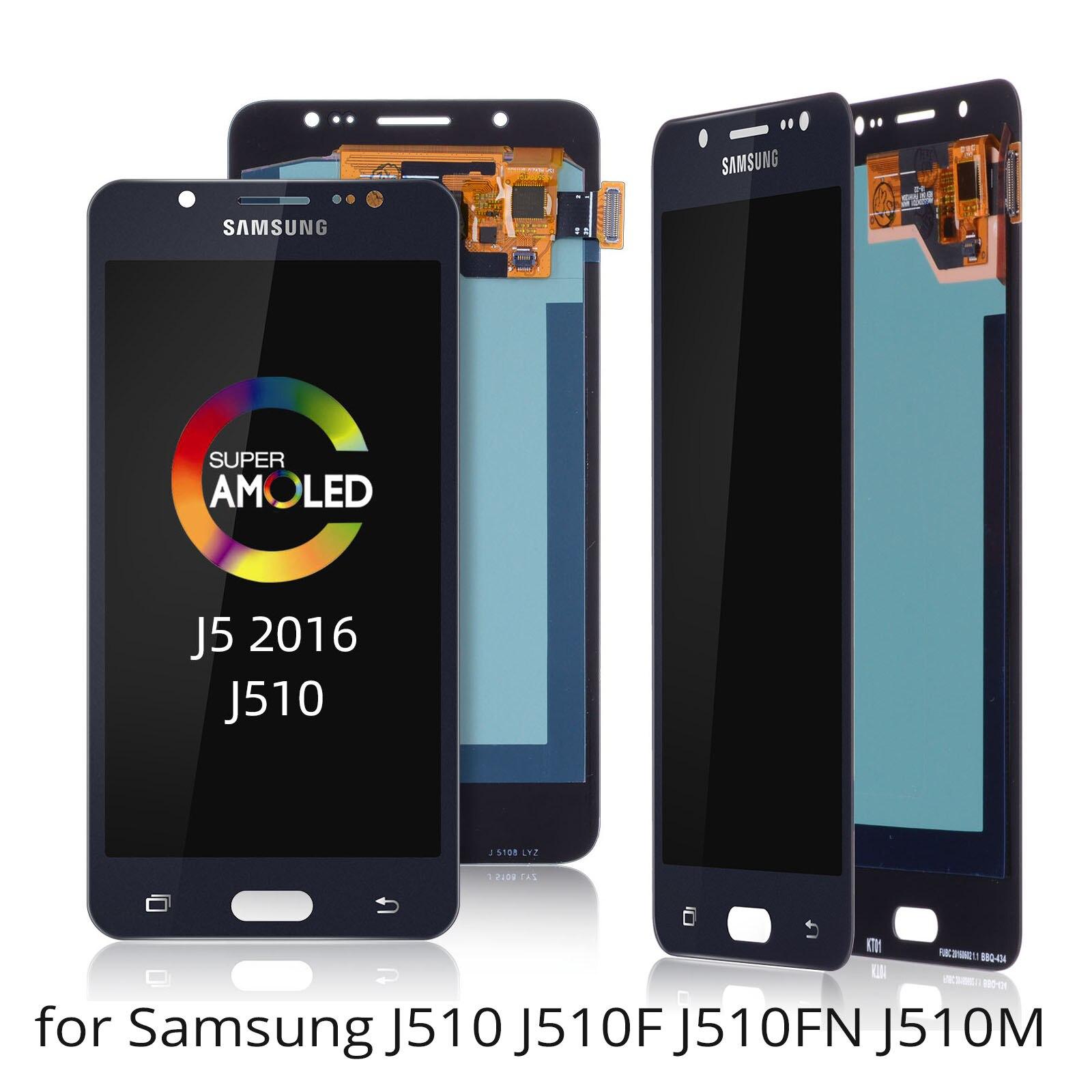 Pour Samsung J5 J510 J510 J510FN J510F J510G J510Y J51M, écran tactile LCD TFT nouveau écran tactile LCD avec numériseur
