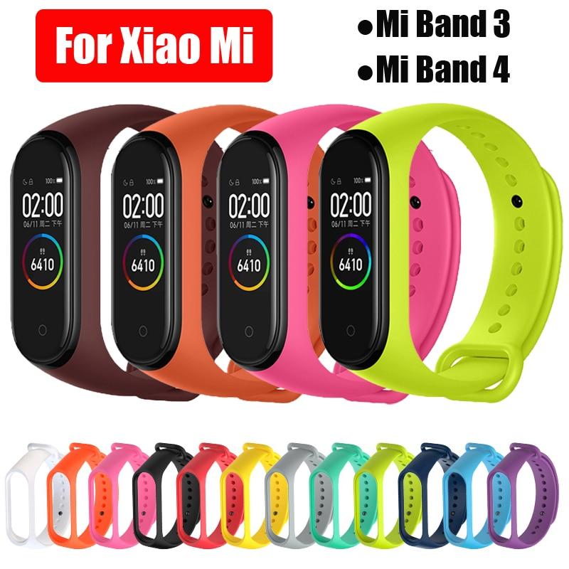 Mi bande 3 4 Bracelet Bracelet pour Xiao mi bande 3 4 Sport Bracelet en Silicone pour mi bande 4 3 Band4 Bracelet de montre intelligente