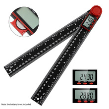 360 ° 200mm/300mm Digitale Winkel Lineal Elektronische Digitale Winkelmesser Neigungs Goniometer Ebene Messung Werkzeug Winkel Gauge rot