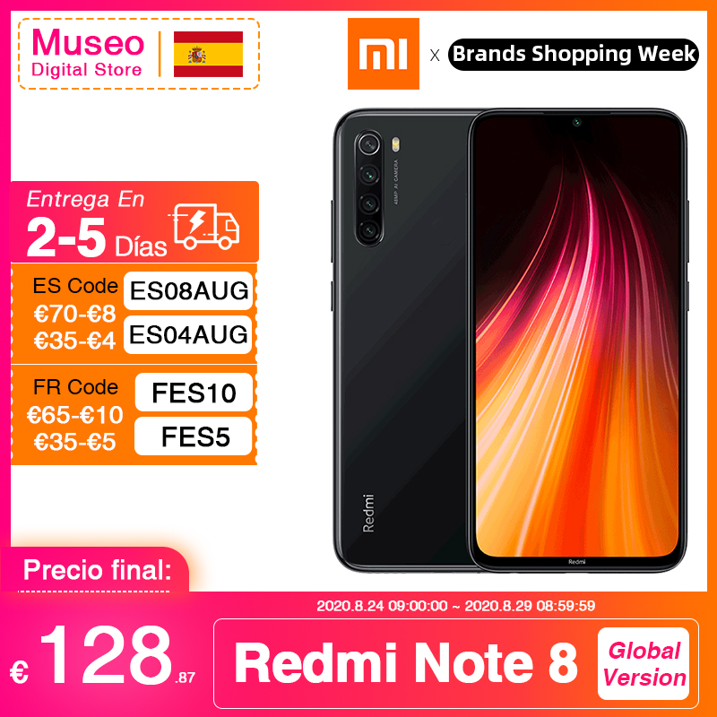 Gloabl Version Xiaomi Redmi Note 8 64GB / 128GB 48MP Quad Camera Smartphone Snapdragon 665 Octa Core 6.3