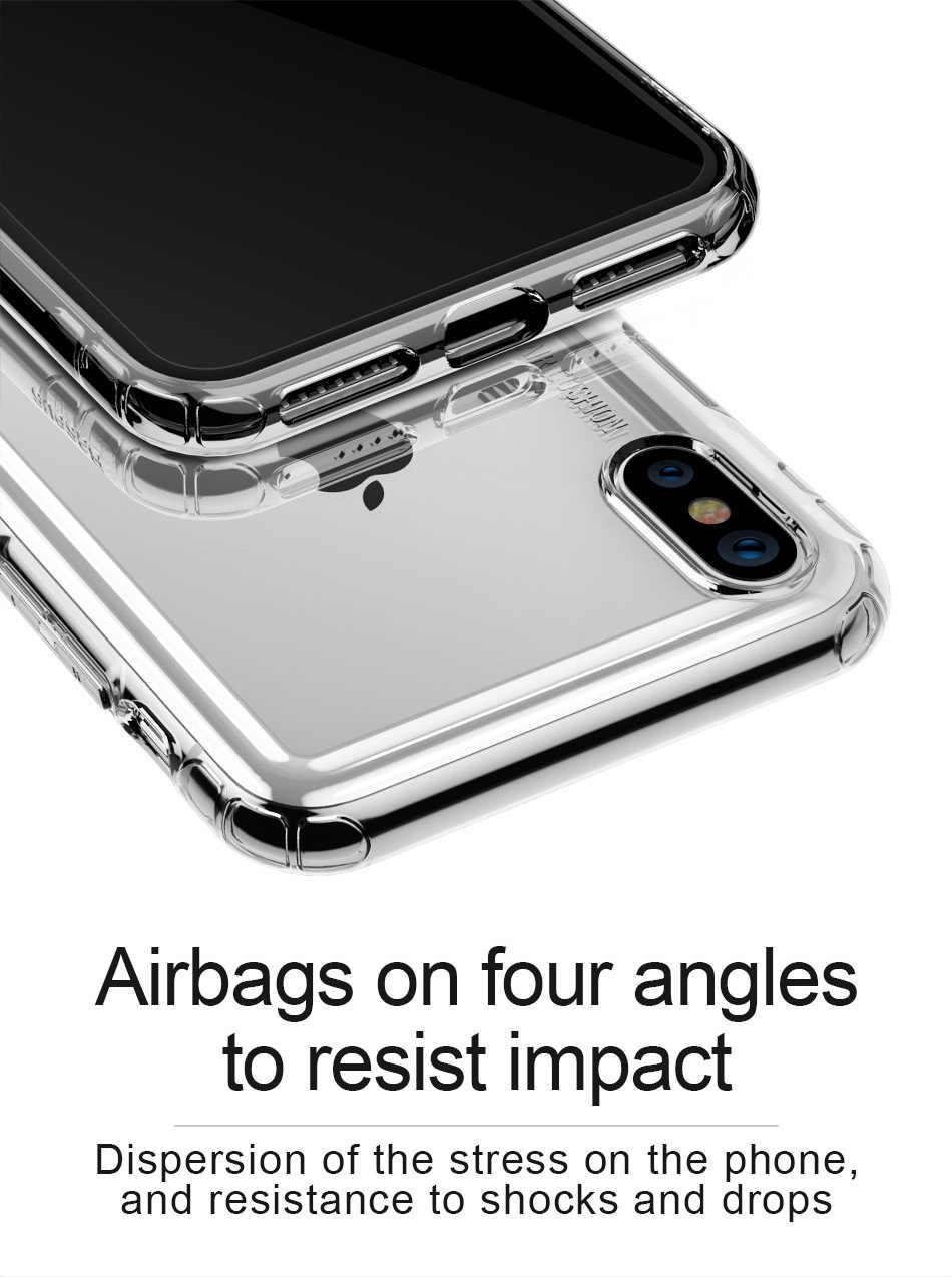 Coque de téléphone souple en TPU pour iphone 8 7 6 6s Plus X Xr housse pour iphone 11 Pro Xs MAX 5 SE 5 S Coque Simple transparente Capa