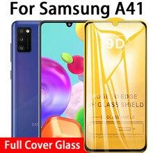 9d cola completa vidro temperado para samsung galaxy a41 protetor de tela para samsung um 41 SM-A415F samsunga41 6.1 película protetora