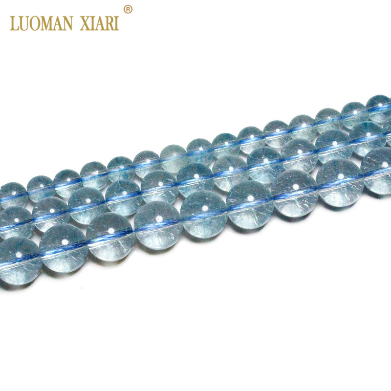 Fine AAA Natural Blue Topaz Beads Blue Crystal Beads Natural Stone Beads For Jewelry Making Diy Necklace Bracelet 6/ 8/10mm 15
