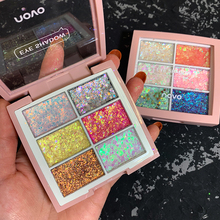 NOVO 6 Colors Candy Glitter Sequins Eyeshadow Makeup Palette Shiny Glitter Pearl