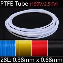 28L 0,38 мм x 0,68 мм PTFE трубка T eflon Изолированная жесткая капиллярная F4 труба высокая термостойкость передающий шланг 150 в красочные