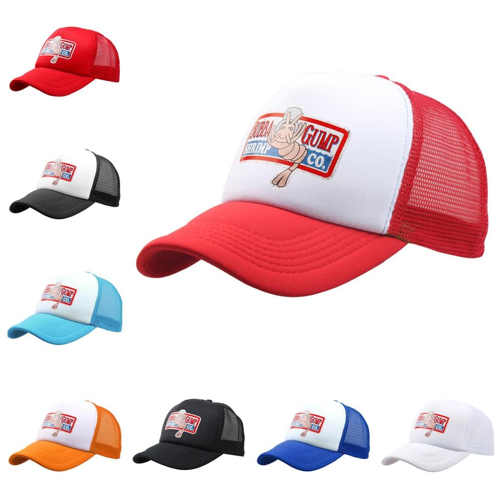 BUBBA GUMP Cap SHRIMP CO. Truck Baseball Cap Men Women Sport Summer Snapback Cap Hat Forrest Gump Adjustable Hat 17 Colors
