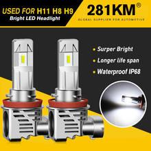 2PACK H11 H9 H8 Fog Lamp Bulbs 12V For Toyota Corolla Volvo XC60 XC90 S60 V70 S80 S40 V40 V50 XC70 V60 C70 H7 H4 Led Car Light