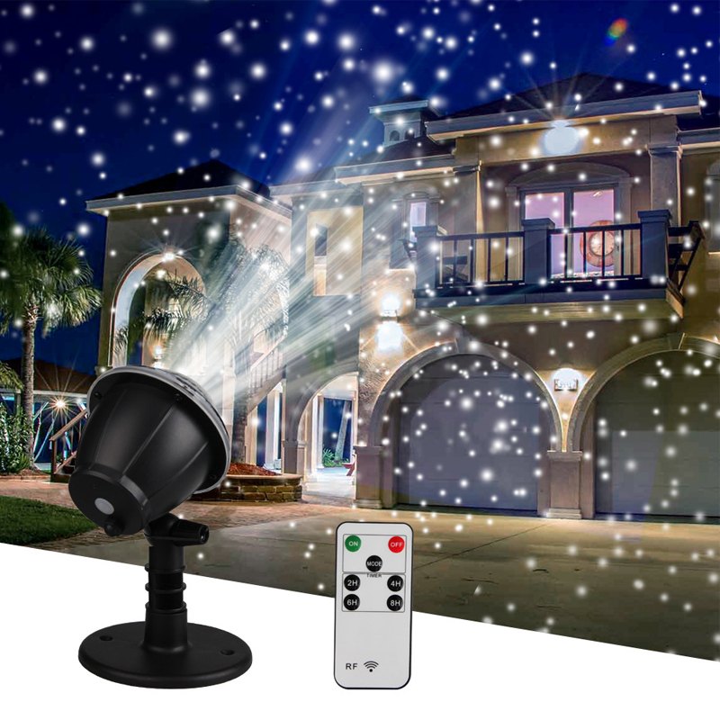Snowfall Projector IP65 Moving Snow Outdoor Garden Laser Projector Lamp Christmas Snowflake Laser Light For New Year Xmas Party