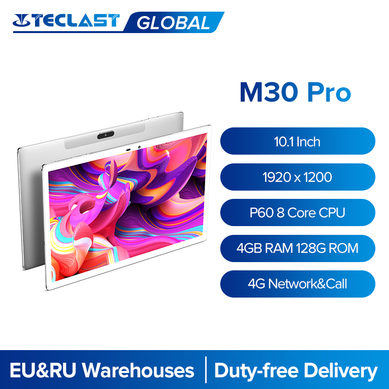 Teclast M30 Pro 10.1 Inch Tablet 8 Core 4G Call Android 10.0 Phablet 1920x1200 IPS 4GB RAM 128GB ROM Tablets PC Dual Wifi GPS