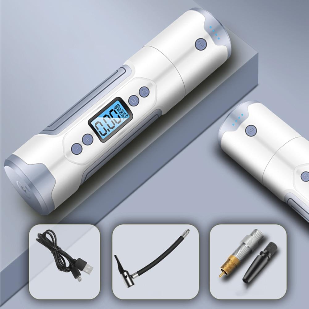 12V 150 PSI Mini compresseur d'air électrique gonfleur de pneu pompe à pneu avec jauge de pneu USB LED chargeur portatif léger pour voiture moto