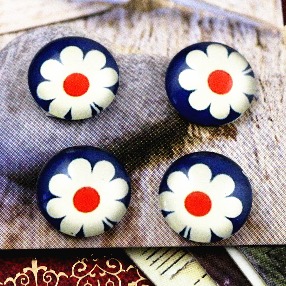 New Fashion  20pcs 12mm Handmade Photo Glass Cabochons   (E2-45)