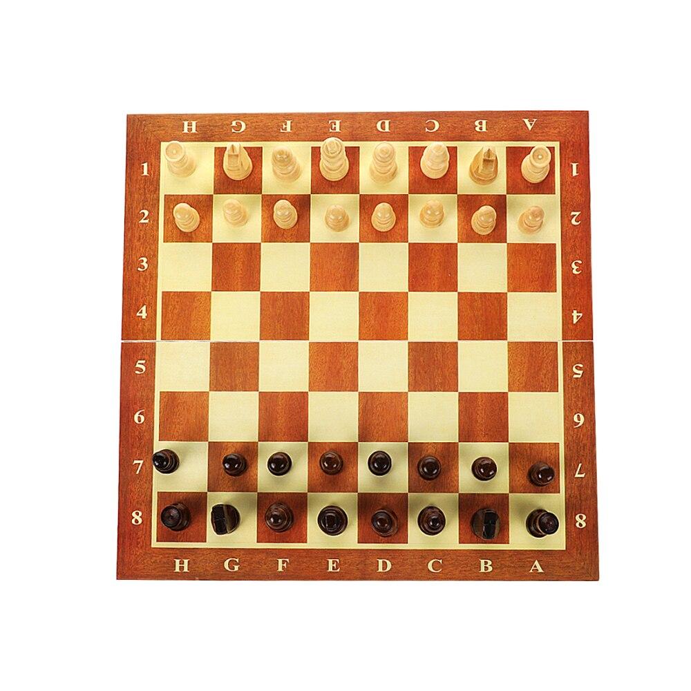 internacional de madeira portátil staunton estilo chessmen