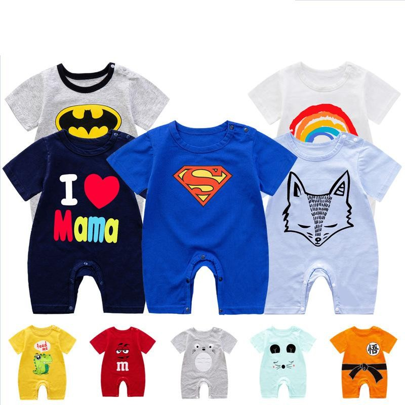 2020 Summer Baby Romper Short Sleeve Cotton Onesie Newborn Clothes For Boys Jumpsuit Baby Outfits Clothing Overalls For Newborn | Happy Baby Mama