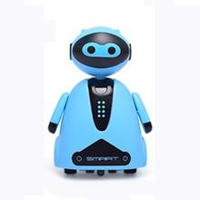 Inductive Electric Robot with LED Light Auto-Induction Car Follow Black Line Toy 634F