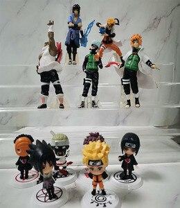 Image 5 - 7 CM 6 PCS Naruto Action Figure Toys 12 Styles Q style Zabuza Haku Kakashi Sasuke Naruto Sakura PVC Model Doll Collection Toy