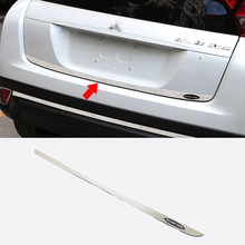 цена на Stainless Steel Red/Blue/Black For Mitsubishi Eclipse Cross accessories 2018 2019 Rear Tailgate Trunk Lid Cover Trim car Styling