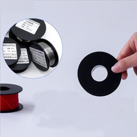 1pcs Plastic Spools Wheel Black Empty Wire Bobbins Round for Beading Cord String Ribbon Jewelry Accessories