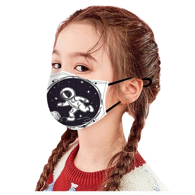 Children Kids Face Mouth Mask Planet Space Print Mouth-muffle Cute Mask For Girls Boys Adjustable Ear Loops Reusable Mask New #z 2
