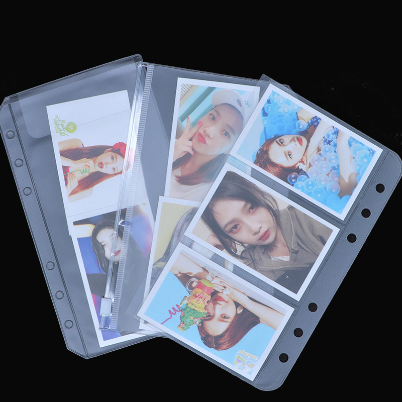 1PCS A5 / A6 Transparent PVC Zipper Presentation File Folder Bag Compact Planner File Holder Bag