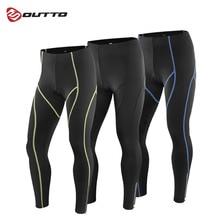Мужские компрессионные длинные штаны Outto с 3D гелевой подкладкой для велоспорта, Длинные дышащие штаны для езды на велосипеде