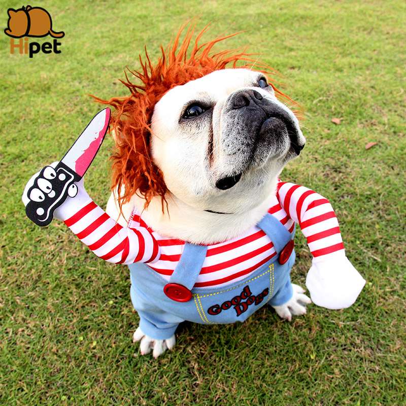 Halloween Dog Costumes Pet Clothing For Pug French Bulldog