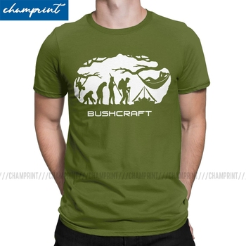Bushcraft Survival Hammocking Evolution Print T Shirt Men T-Shirt Crewneck Camping Mountain Travel Wild Tees Short Sleeve Tops - discount item  40% OFF Tops & Tees