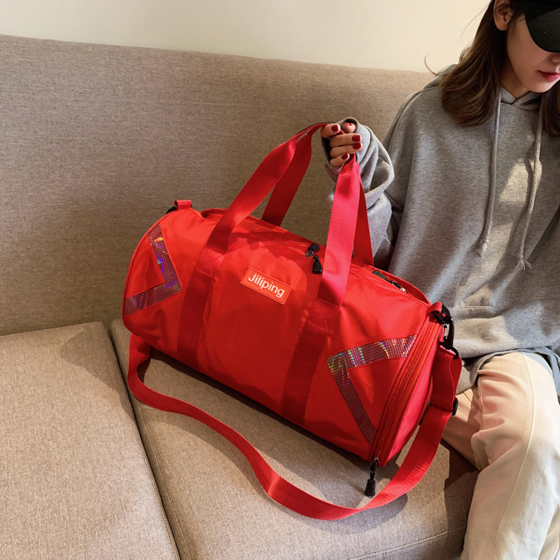 Women Carry Luggage Bags, Large Capacity Travel Bags, Bags Male Waterproof Exercise Bags, Wet Separate Independent Shoes Bag