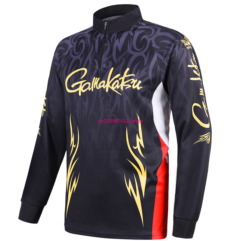 Gamakatsu Fishing Vest Spring Summer Men Long Sleeve Outdoor Cycling  Shirts Quick Dry Breathable  Clothes