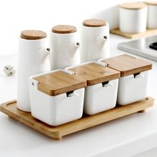 Керамическая баночка специй в японском стиле бак для хранения