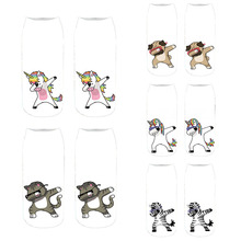 Funny Unicorn Pattern 3D Printed Socks Unisex Casual Sports Cotton Socks Children Gifts Low Ankle Animal Socks носки с принтами